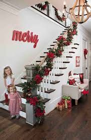 Banister Decorations For Christmas The 25 Best Christmas Stairs Decorations Ideas On Pinterest
