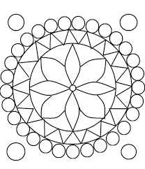 printable simple rangoli pattern coloring pages grown ups 13