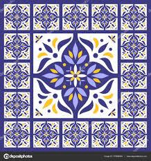 Tile Floor In Spanish by Oriental Pattern Tiles Floor Vector Vintage With Ceramic Cement