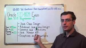 1z0 809 java exam se 8 test programmer ii questions youtube
