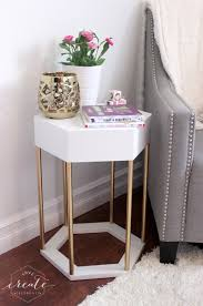 Hexagon Side Table Hexagon Side Table Create Celebrate