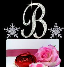 wedding cake topper letter b monogram wedding cake topper letter