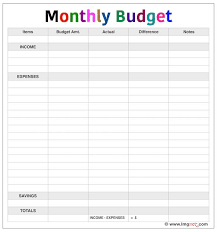 Excel Monthly Budget Template Personal Monthly Budget Template Excel Simple Planner Report