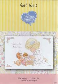 precious moments get well cards box of 12 cards dayspring