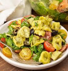 What Is Pasta Salad Spinach Tortellini Italian Pasta Salad Recipe Video Wonkywonderful