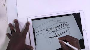 ipad pro how to draw a car the blob method youtube