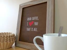 Home Decoration Accessories Wall Art Coffee Sign Kitchen Wall Art Coffee Prints Coffee Love