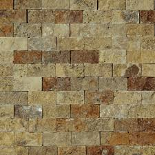 Kitchen Backsplash Mosaic Tile 2 X 4 Split Face Mosaic Tile Beige Marble Honed Wall Floor Tile
