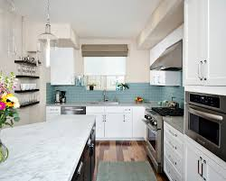 Glass Backsplash Kitchen by Glass Subway Tiles Backsplash Kitchen Modern With Glass Backsplash