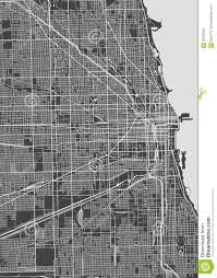 Map Chicago by Chicago City Plan Detailed Vector Map Stock Vector Image 90432303
