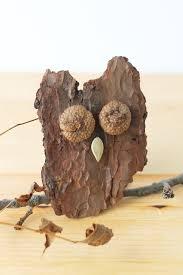 how to make bark owls