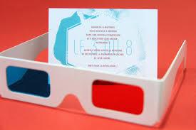 faire part mariage originaux des invitations de mariage avec des lunettes 3d par allons y
