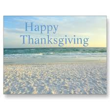 happy thanksgiving destin florida sunset postcard