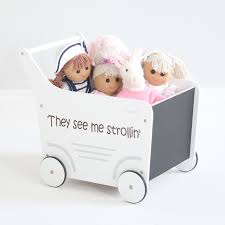 personalised wooden stroller my 1st years