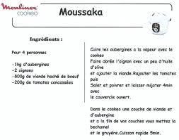 recette de cuisine cookeo moussaka recettes cookeo