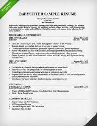 Babysitter Resume Template Education On Resume Example Resume Sample