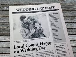 newspaper wedding program free wedding program templates wedding program ideas