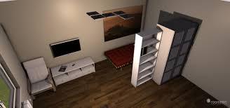 wohnzimmer und schlafzimmer in einem raumteiler für schlafzimmer
