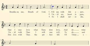 breathe on me breath of god church song gospel hymn midi