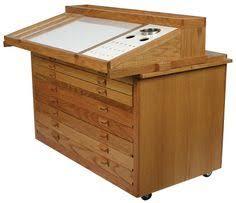 Utrecht Drafting Table Vintage Industrial Oak Hamliton Drafting Table W Blueprint Flat