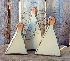 Angels Home Decor by Wood Angels Primitive Wooden Angels Carved Wood Rustic