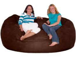 amazon com cozy sack 7 feet bean bag chair x large chocolate