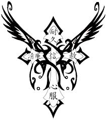 free black and white cross tattoos free clip free
