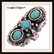 tibetan silver turquoise necklace images Cowgirl gypsy ring turquoise n tibetan silver large cocktail jpg