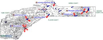 nevada counties map nevada county boat rs map