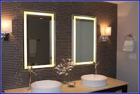 Bathroom Mirror With Tv by Lighted Bathroom Mirrors Canada Bathroom Home Design Ideas