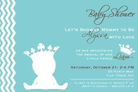 crown baby shower cimvitation