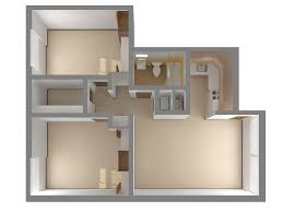 Two Bedroom Apartments 50 Two 2 Bedroom Apartmenthouse Plans Throughout 2 Bedroom