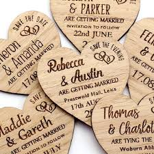 rustic save the date magnets wooden rustic save the dates nivi design