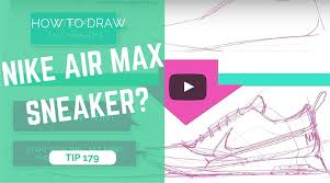 how to draw the nike air max 1min sketching tutorial