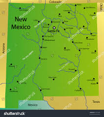 State Of New Mexico Map by Detailed Map New Mexico State Usa Stock Illustration 37914847
