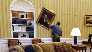 Oval Office Paintings by Obama Spends Another Night Searching Behind White House Paintings