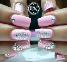 luminous nails little baby pink cuties pink gel nails
