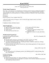 Nurses Dazzling Ideas New Grad by Med Surg Nurse Resume Resume Templates