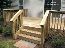 wood deck railing ideas design deck railings pictures stairs of