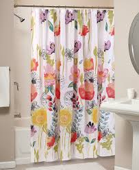 Pink And Yellow Shower Curtain by Bathroom Stall Shower Curtain For Bathroom Decorating Ideas With