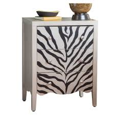 furniture modern zebra cest furniture storage with 3 drawers for