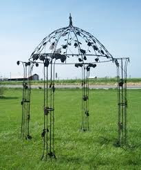painting of the wrought iron pergola for an exciting and wonderful