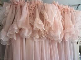 Pale Pink Curtains Decor Vintage Pale Pink Curtains Shabby Chic Feminine Home Pinterest