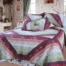 Cotton Quilted Bedspread Dada Bedding Floral Diamond Garden Party Bohemian 100 Cotton