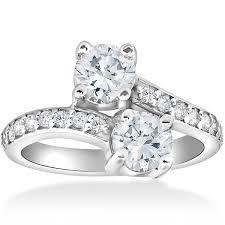 overstock engagement rings 14k white gold 2ct forever us two engagement