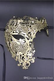 lace masquerade masks for women black silver half skull men women phantom evil venetian metal
