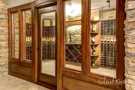 wine cellar and theater remodel transforms an open basement