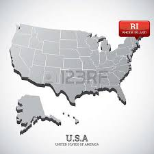 usa states map rhode island 0 rhode island state on map of usa stock illustrations cliparts