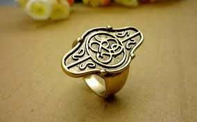 movie jewelry rings images Movie jewelry hobbit thorin elrond 39 s gold council aragorn ring the jpg