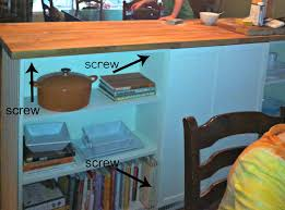 Build Your Own Kitchen Island by Golden Boys And Me Bookshelves Turned Kitchen Island Ikea Hack